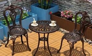 Bàn ghế cafe cổ điển