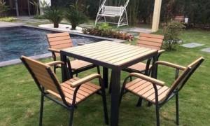 Bàn ghế gỗ kinh doanh cafe