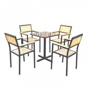 Bộ bàn ghế gỗ chân cao,giá rẻ
