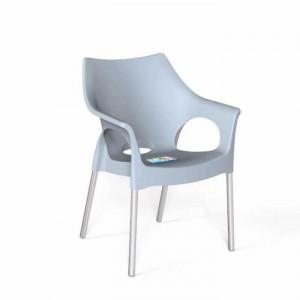 Ghế nhựa trắng inox