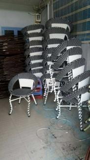 Cần thanh lý 20 bộ ghế mây nhựa