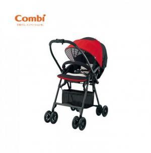 Xe đẩy Combi Mechacal Handy 2cas đỏ sọc
