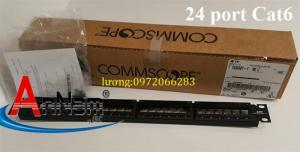 Patch panel 24 port CAT6 COMMSCOPE mã 1375014-2
