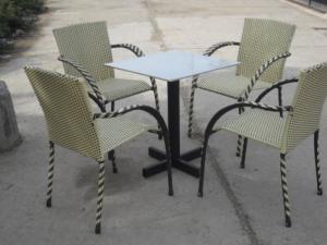 bàn ghế mây nhựa cafe  giá rẻ tại xưởng sản xuất 00067