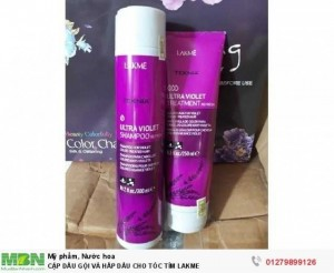 Cặp dầu gội và hấp dầu cho tóc tím Lakme