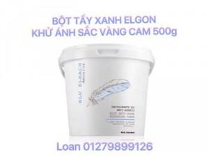 Bột Tẩy Xanh Elgon Blue Khử Ánh Vàng Cam Nâng Tone Cho Tóc 500g