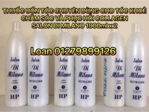 Thuốc uốn tóc collagen chuyên dành cho tóc khoẻ salon di milano 1000ml x 2
