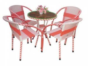 bàn ghế mây nhựa cafe giá rẻ tại xưởng sản xuất HGH 00047