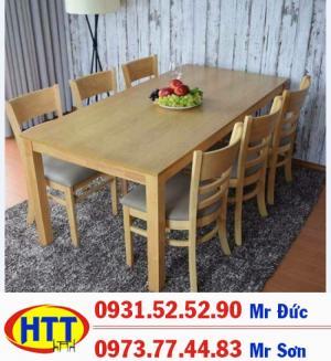 Bàn ghế gỗ quán ăn giá rẻ HTT02