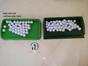 Khay cao su đựng 100 banh golf xanh nõn chuối