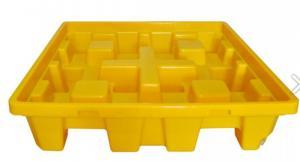 Pallet nhựa chống tràn, loại dùng cho 4 thùng phi 200 lít