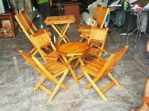 Bộ bàn ghế gỗ xếp nhỏ giá bình dân