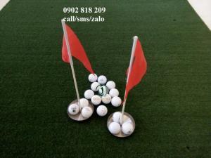 Cờ golf inox mini cho green golf trong nhà