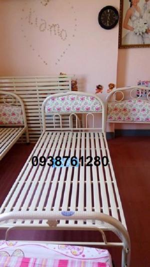 giường sắt đơn ngang 80cm dài 2m