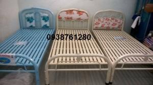 giường sắt đơn ngang 1m dài 2m