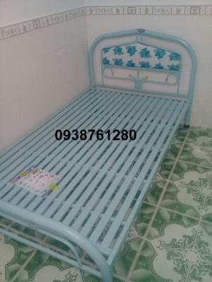 giường sắt đơn ngang 1m2 dài 2m