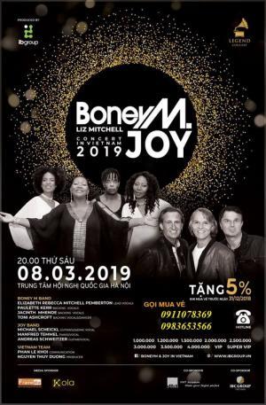 Bán vé Boney M and Joy in Viet Nam  20h ngày 8/3/3019 tại trung tâm hội nghị quốc gia Hà Nội