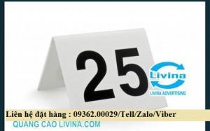 Biển số bàn mica- CUng cấp các loại biển số bàn giá rẻ