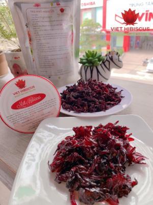 Mứt hoa Atiso đỏ (mứt hồng hoa / mứt Hibiscus) 150gr chua ngọt lạ miệng