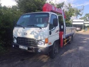Xe tải Hyundai hd700 gắn cẩu unic 344 mới giao ngay