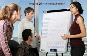 Bảng Flipchart kẹp giấy viết bút lông kích thước 70x100cm