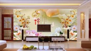 Mẫu tranh phòng khách- gạch 3d