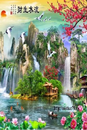 Tranh sơn thủy - tranh phong cảnh- tranh gạch 3d