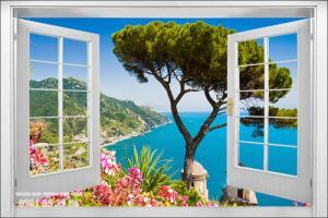 Tranh gạch men - gạch tranh 3d- tranh hình cửa sổ 3d