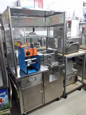 Máy ép mía siêu sạch V5990 có thùng xe tủ kính