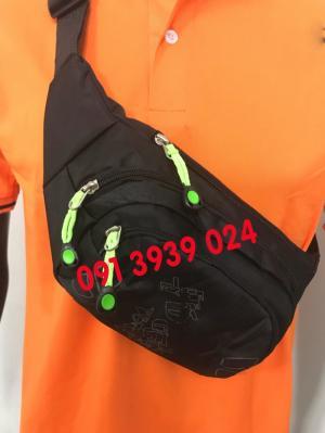 Xưởng may túi bao tử đeo chéo, túi bao tử đeo chéo in thêu logo theo yêu cầu làm quà tặng