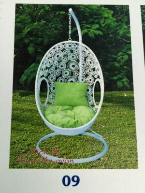 bàn ghế xích đu mây nhựa giá rẻ tại xưởng sản xuất HGH 386