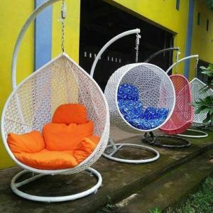 Bàn ghế xích đu mây nhựa giá rẻ tại xưởng sản xuất HGH 387