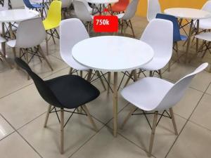 bàn ghế nhựa chân gổ giá rẻ tại xưởng sản xuất HGH 390