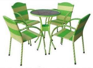 bàn ghế cafe mây nhựa giá rẻ tại xưởng sản xuất HGH 149