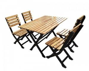 bàn ghế gổ quán nhậu rẻ tại xưởng sản xuất HGH 151