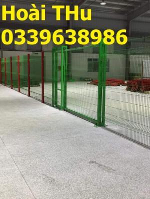 Hàng rào sơn tĩnh điện, lưới thép hàng rào mạ kẽm, bọc nhựa, cột trái đào, di động
