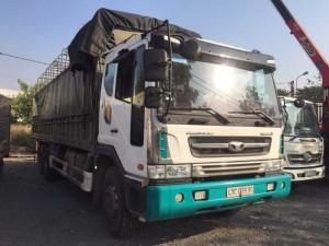 Xe tải 15 tấn daewoo novus thùng mui bạt đời 2014