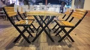 bàn ghế gổ quáng nhậu giá rẻ tại xưởng sản xuất HGH 462