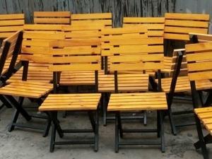 bàn ghế gổ quáng nhậu giá rẻ tại xưởng sản xuất HGH 463