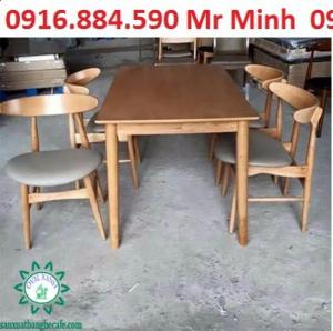 bàn ghế gổ phòng ăn giá rẻ tại xưởng sản xuất HGH 475