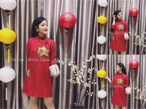 Đầm gấm đỏ