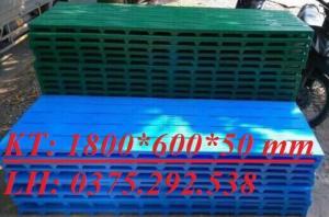 Tấm nhựa Pallet lót sàn kích thước 1800 x 600 x 50 mm