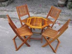 Bàn ghế gổ cafe giá rẻ tại xưởng sản xuất HGH 493