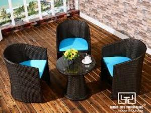 Bàn ghế cafe mây nhựa giá rẻ tại xưởng sản xuất HGH 494