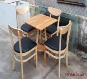 Bàn ghế gổ cafe giá rẻ tại xưởng sản xuất HGH 212