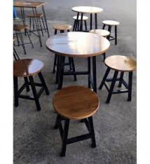 Bàn ghế gổ cafe giá rẻ tại xưởng sản xuất HGH 214