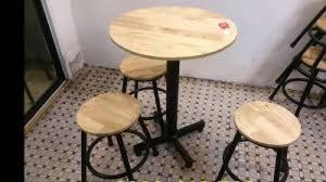bàn ghế gổ cafe giá rẻ tại xưởng sản xuất HGH 215