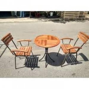 Bàn ghế gổ cafe giá rẻ tại xưởng sản xuất HGH 216