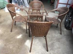 Bàn ghế mây cafe sân vườn trực tiếp sản