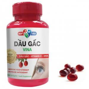 Dầu Gấc Vina Viên Nang Mềm - Tăng cường thị lực cho mắt, ngăn ngừa lão hóa